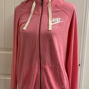 Nike women's pink zip up hoodie- NWT